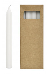 Candle, white, s/8, h24