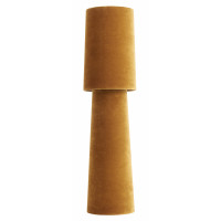 OPUS table lamp, tall, mustard velvet