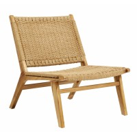 CLUB lounge chair, teak w/rope, nature