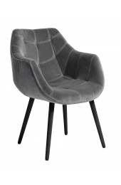Armchair, grey, velvet
