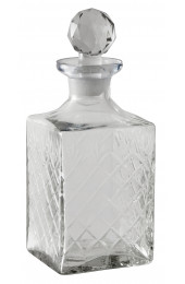 Decanter, harlequin, clear, small