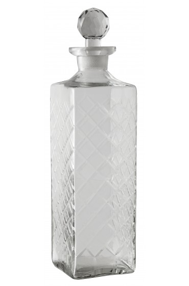 Decanter, harlequin, clear, large