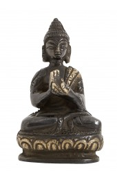 Black Buddha, small w/fabric bag
