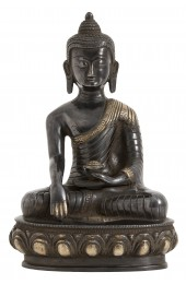 Black Buddha, large w/fabric bag