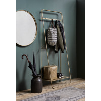 Coat rack/hanger, metal, gold