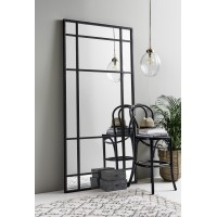 SPIRIT Iron wall mirror, black finish